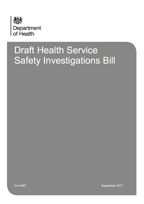 Draft Health Service Safety Investigations Bill