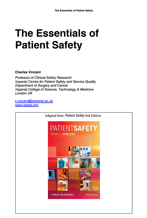 Introduction to Patient Safety