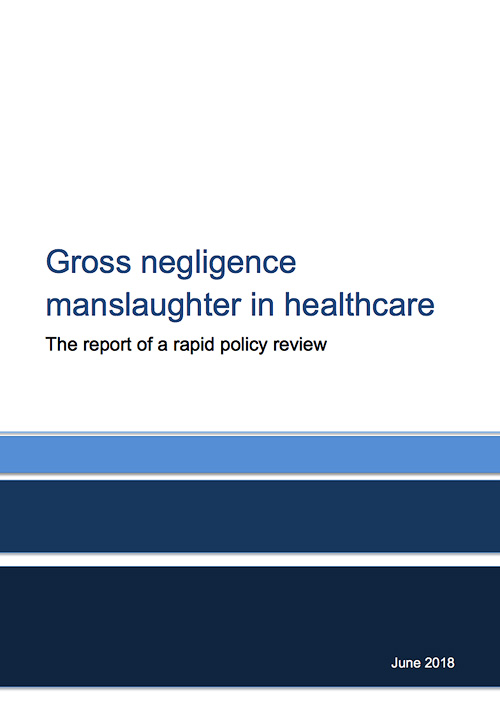 Williams Review into gross negligence manslaughter in healthcare