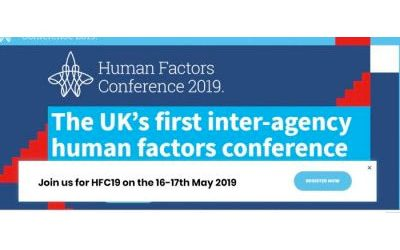 Human Factors Conference – 16th and 17th May 2019 – Manchester