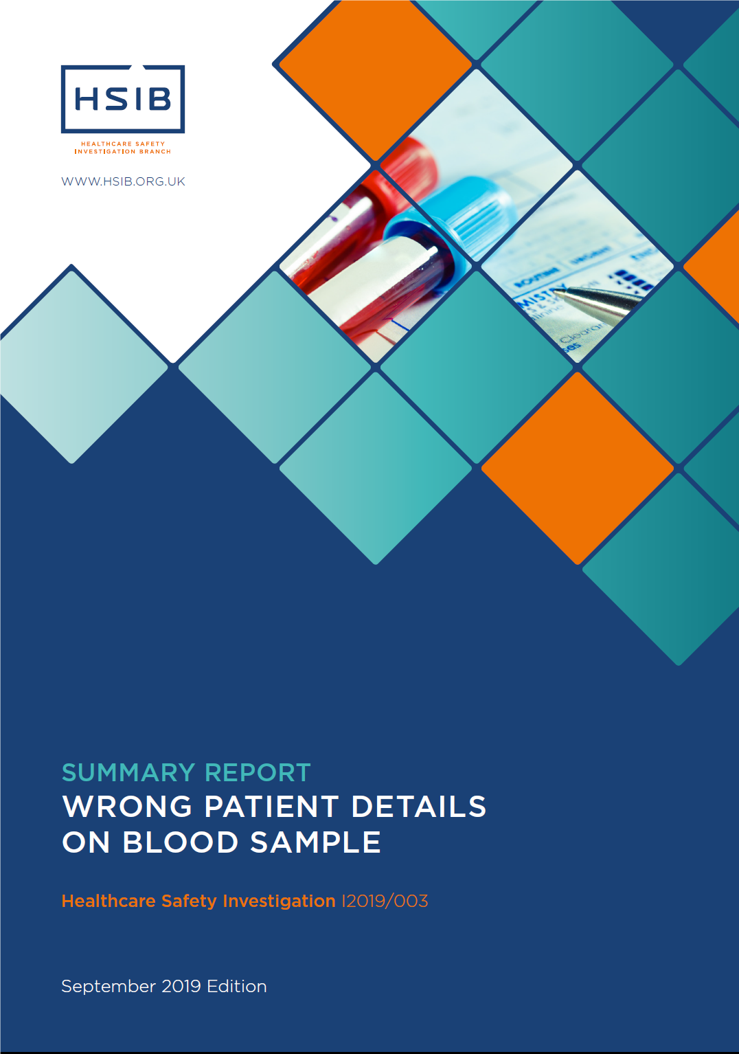 HSIB Report wrong blood sample