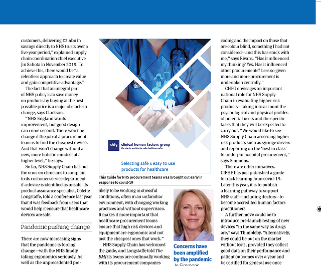 BMJ Article on the importance of design in procurement