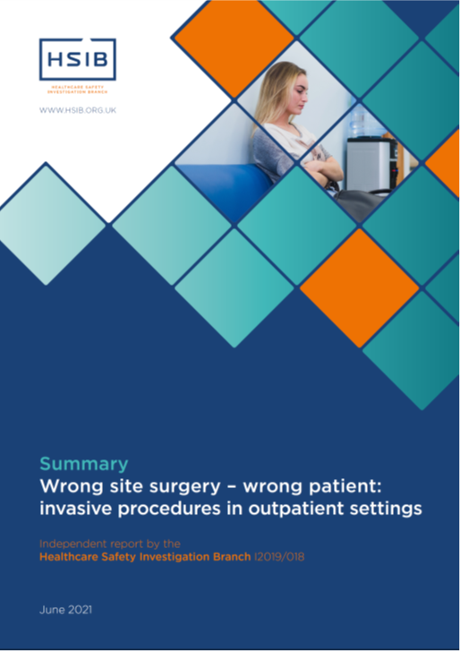 HSIB Report Wrong site surgery – Wrong patient